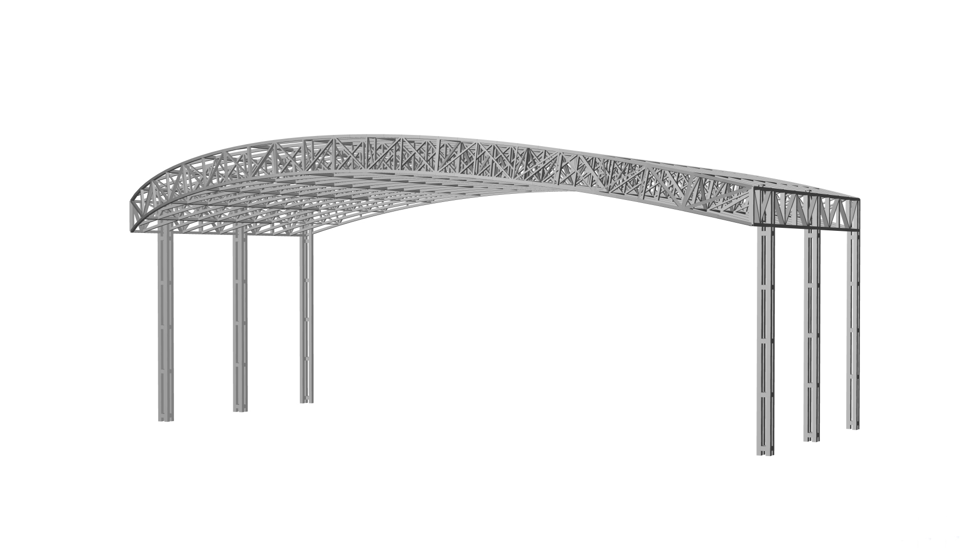 Structural model of stage canopy